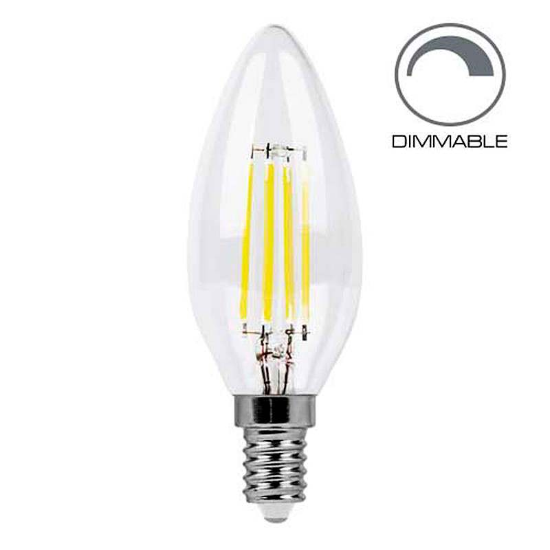 Светодиодная лампа Filament dimmable LB-68 C37 E14 4W 4000K 220V Feron (4970)